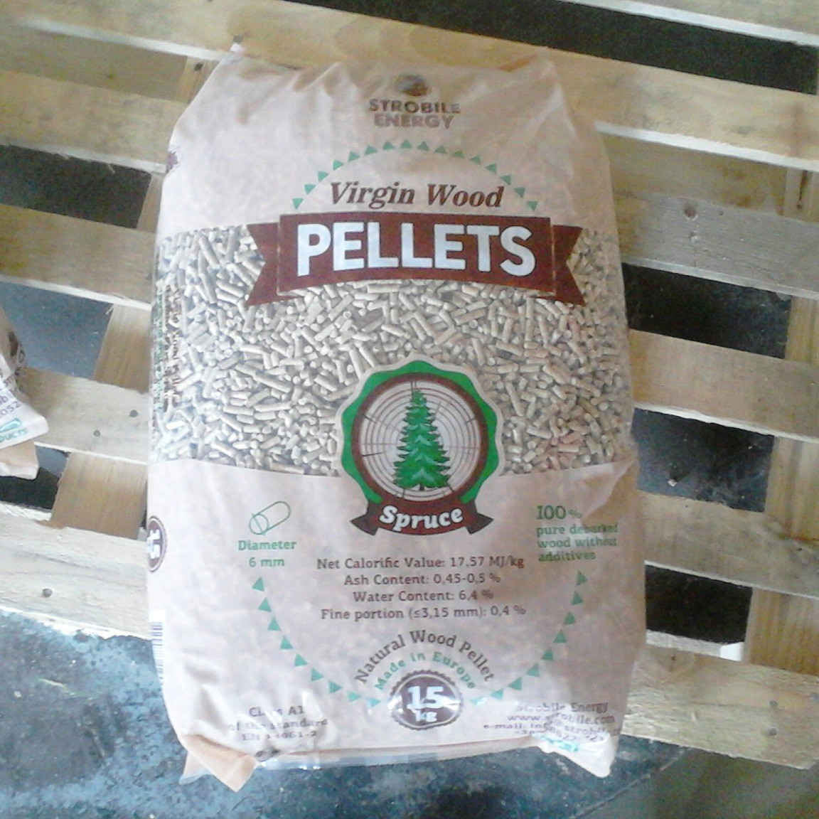 Drevene pelety Virgin Wood Pellets Foto 5